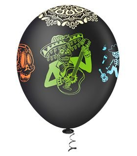Balão Caveira Mexicana Sortido PICPIC 10'' - Maricota Festas