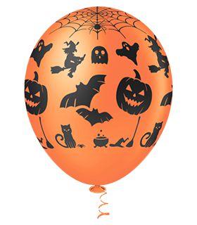 Balão Halloween Sortido PICPIC 10'' c/25 Unid. - Maricota Festas