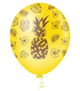 Balão Abacaxi Sortido PICPIC 10'' c/25 Unid. - Maricota Festas