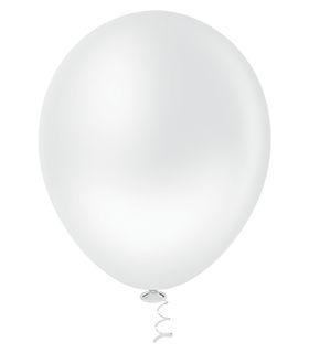 Balão Branco PICPIC Redondo 9'' c/50 Unid. - Maricota Festas