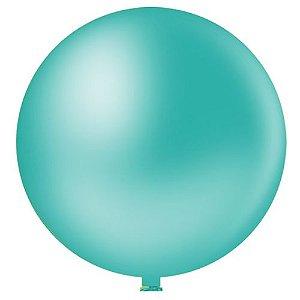 Balão AZUL TIFFANY  PICPIC Redondo 9'' c/50 Unid. - Maricota Festas