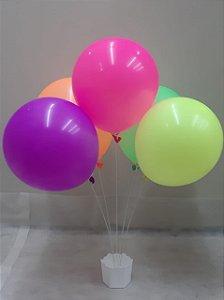 Suporte Cachepot Plástico C/5 Varetas (sem baloes) -  Maricota Festas