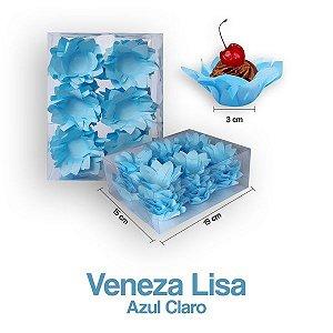 Forminha Veneza para Docinhos Azul Clara c/40 Unid. - Maricota Festas