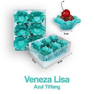 Forminha Veneza para Docinhos Azul Tiffany c/40 Unid. - Maricota Festas