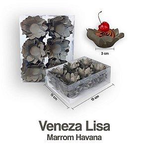 Forminha Veneza para Docinhos Marrom Havana c/40 Unid. - Maricota Festas