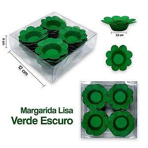 Forminha Margarida para Docinhos Verde Escuro c/40 Unid. - Maricota Festas