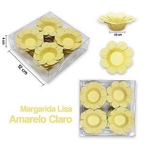 Forminha Margarida para Docinhos Amarelo Claro c/40 Unid. - Maricota Festas