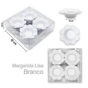 Forminha Margarida para Docinhos Branco c/40 Unid. - Maricota Festas