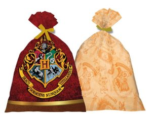 Sacola Plastica Harry Potter C/8 Unidades - Maricota Festas