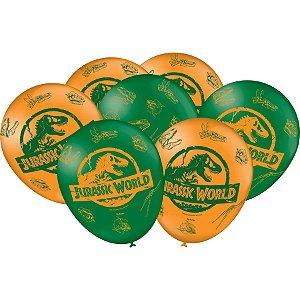 Balão Imperial Temático Jurassic World C/25 Unidades. Maricota Festas