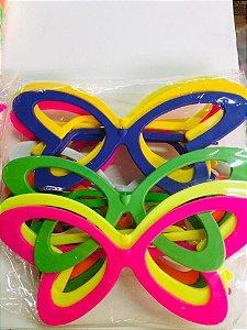 Óculos BORBOLETA Pacote com 10 Unid. Colorido - Maricota Festas