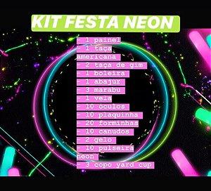 KIT FESTA NEON C/75 PEÇAS - MARICOTA FESTAS