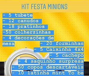 KIT FESTA MINIONS C/183 PEÇAS - MARICOTA FESTAS