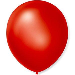 Balão VERMELHO PICPIC Redondo 9'' c/50 Unid. - Maricota Festas