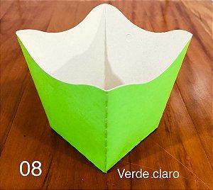 Cachepot Pequeno de Papel VERDE CLARO C/10 - Unidade. Maricota Festas