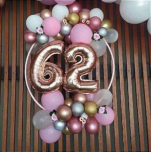 Arco De Mesa P/ Decoração C/ Balões Painel 54CM - MARICOTA FESTAS