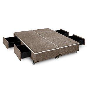 Cama Box com 4 Gavetas Sensor