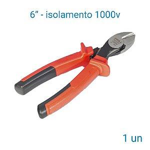 Alicate De Corte Diagonal Noll 6'' Com Isolamento De 1000v - 1 Unidade