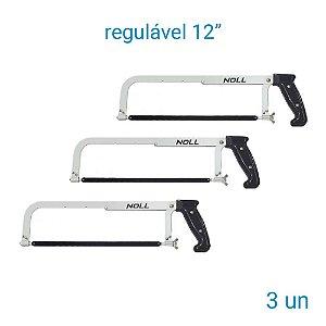 """Arco De Serra Regulável 12"""" Noll - 3 Unidades"""