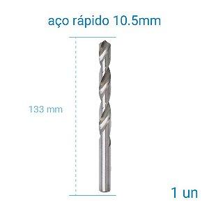 Broca A/R 10,50 mm Htom - 1 Unidade