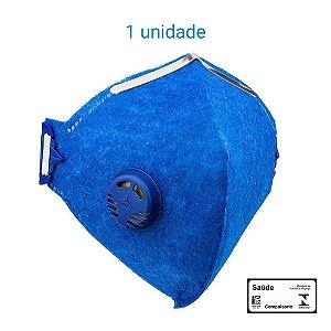 Máscara Respiratória PFF2 S Com Válvula - Prevenção Corona Vírus - Delta Plus CA 38503