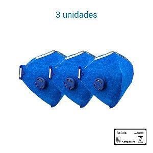 Máscara Respiratória PFF2 S Com Válvula - Prevenção Corona Vírus - Delta Plus CA 38503 - PACK COM 3 UNIDADES