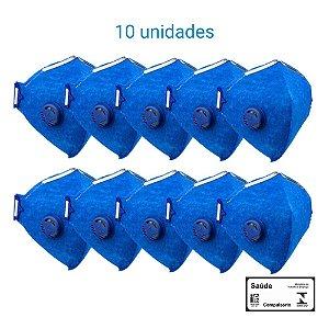Máscara Respiratória PFF2 S Com Válvula - Prevenção Corona Vírus - Delta Plus CA 38503 - PACK COM 10 UNIDADES