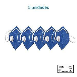 Máscara Respiratória PFF1 S Com Válvula - Carbografite CG 411V - Pack com 5 unidades
