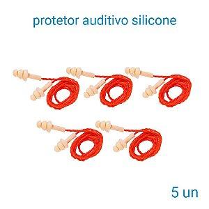 Protetor Auditivo De Silicone 3 M Pomp Plus - 5 Unidades
