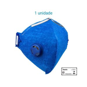 Máscara Respiratória PFF2 S Com Válvula - Prevenção Corona Vírus - KSN CA 10578