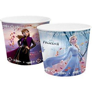 Balde De Pipoca Frozen De Papel 980 Ml 4 Unidades Para Festa
