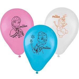 Balão Latex Redondo Frozen 25 Unidades Por Pacote