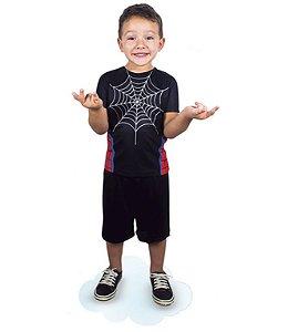 Fantasia Homem Aranha Pop Infantil Camiseta E Short