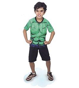 Fantasia Hulk Pop Infantil Camiseta E Short