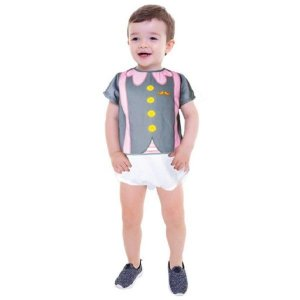 Fantasia Infantil Body Bebê Mundo Bita Menino