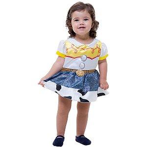 Fantasia Infantil Vestido Body Bebê Jessie Baby Toy Story