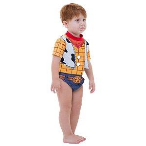 Fantasia Infantil Body Bebê Xerife Woody Toy Story
