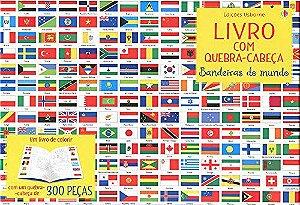 Bandeiras do Mundo: Livro com Quebra-Cabeça