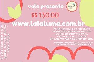 Vale Presente R$ 130,00