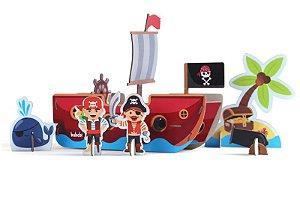 Quebra-cabeça 3D Piratas
