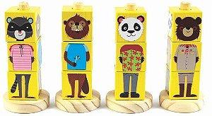 Cubos Animais Amarelo