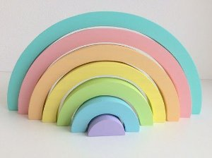 Arco-íris 7 arcos - Cores Candy
