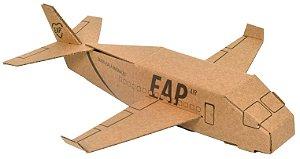 Avião 3D em papelão