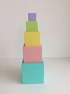 Cubo de Encaixe Candy Colors