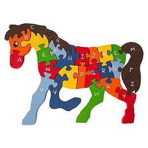Quebra Cabeça Alfabeto e Números Cavalo