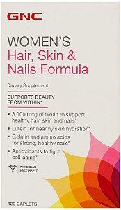 Hair, Skin & Nails (Cabelo, pele e unhas) 120 Cápsulas - GNC