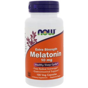 Melatonina 10mg - Extra Forte (100 cápsulas) - Now Foods