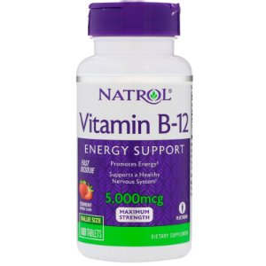 Vitamina B12 5000mcg (100 Tabletes) Sublingual - Natrol