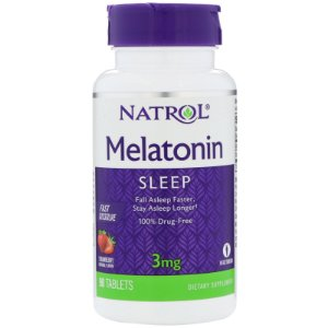 Melatonina 3mg Sublingual Fast Dissolve (90 Cápsulas) - Natrol