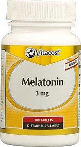 Melatonina 3mg (100 e 300 Cápsulas) - Vitacost